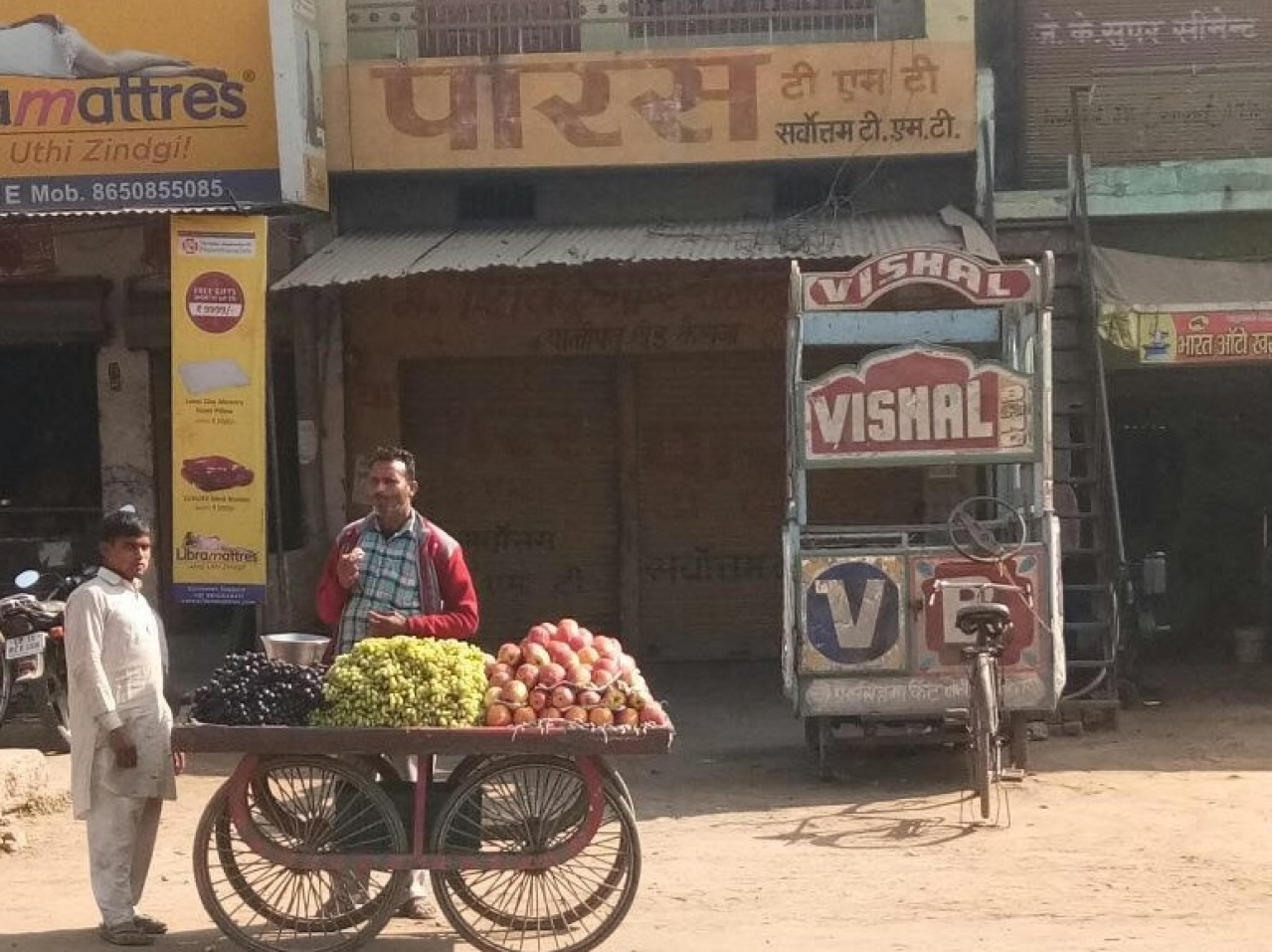 The abandoned shop of Shivkumar, who was shot in 2014.