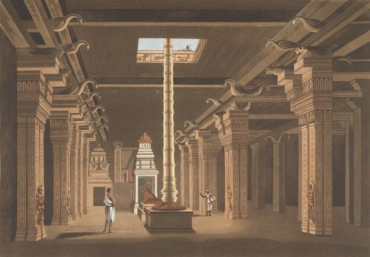 A Madurai Hindu temple choultry or chatram (Daniell, Thomas/Wikimedia Commons)