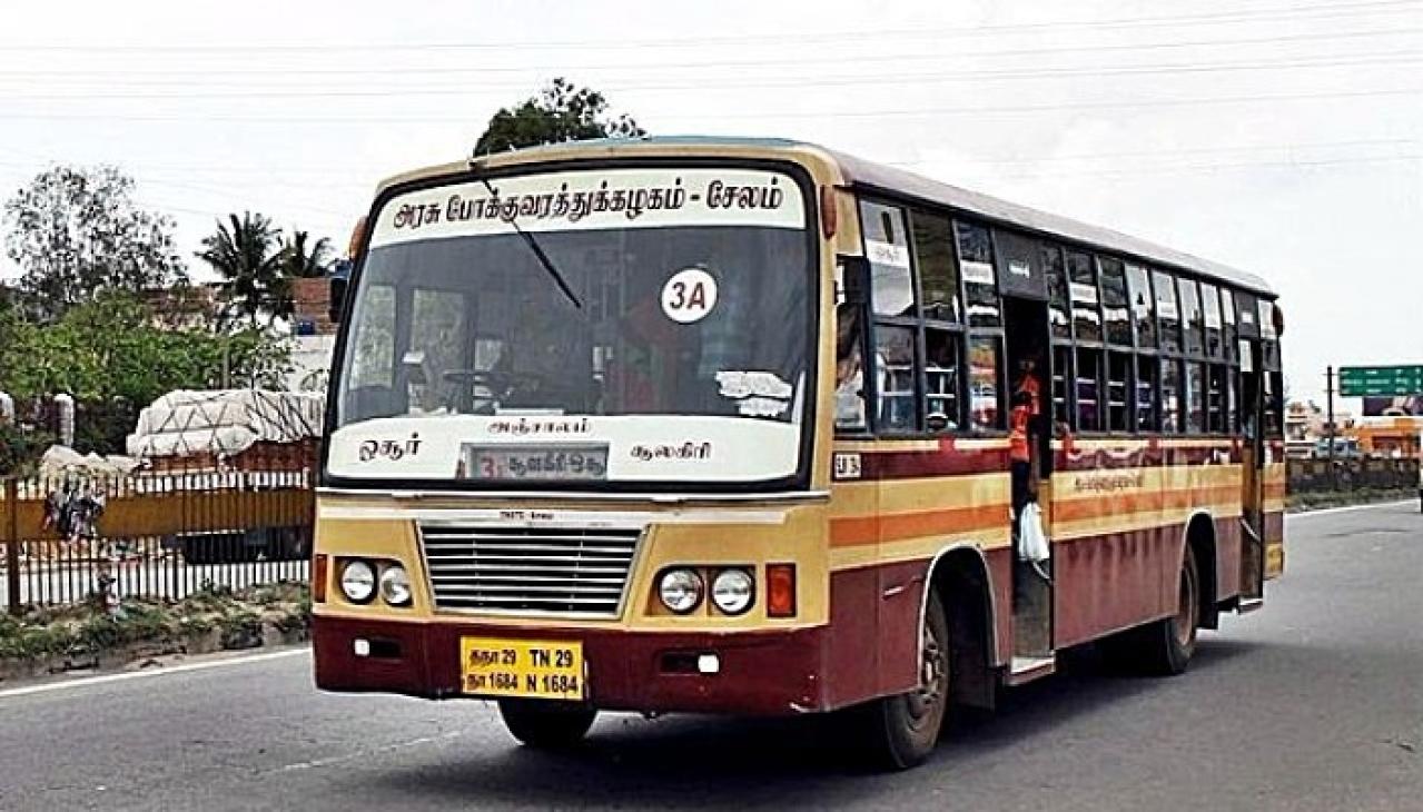 A TNSTC Salem bus in Hosur (Prchandran.82/Wikimedia Commons)