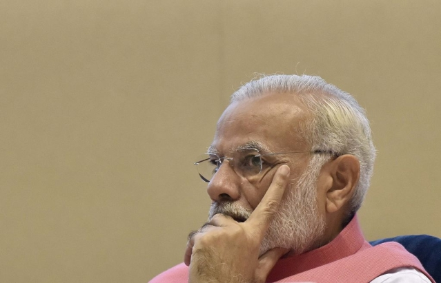 Prime Minister Narendra Modi at an event in New Delhi. (Sonu Mehta/Hindustan Times via GettyImages)