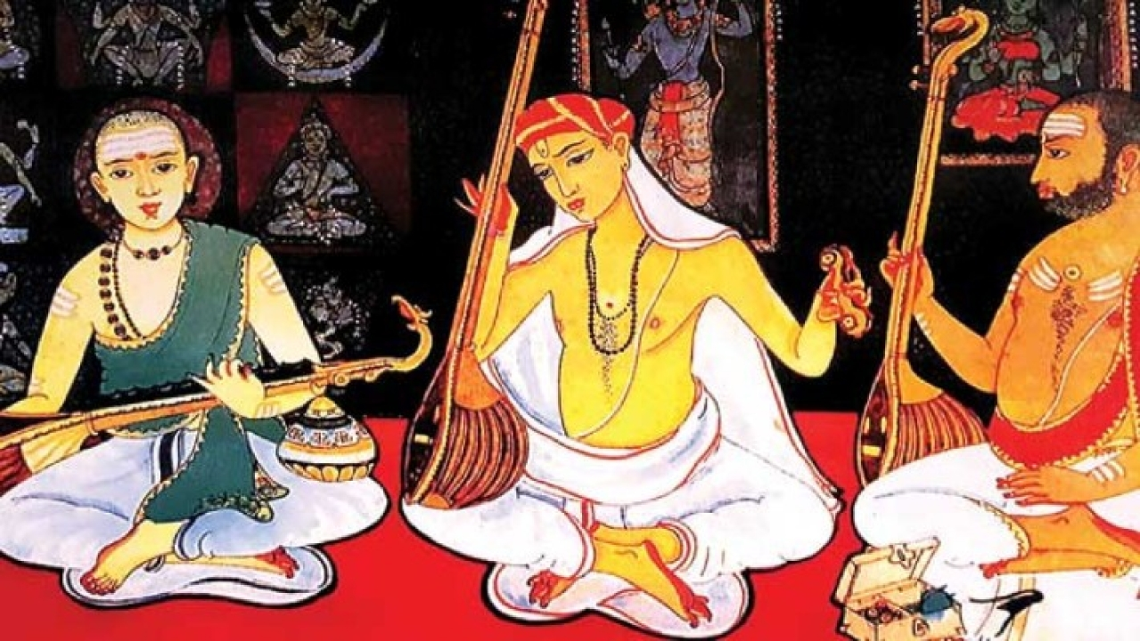 """<span style=""""white-space: pre-wrap; background-color: rgb(255, 255, 255);"""">All of Carnatic music can be described in pre-Tyagaraja and post-Tyagaraja terms.</span>"""