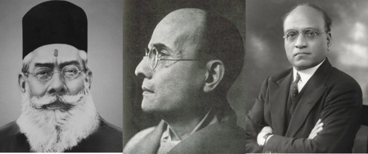 Dr Moonje, Veer Savarkar and Barrister Jayakar – Hindu Mahasabha leaders who opposed the martial race theory and wanted inclusion of Scheduled Communities in the army and police forces.