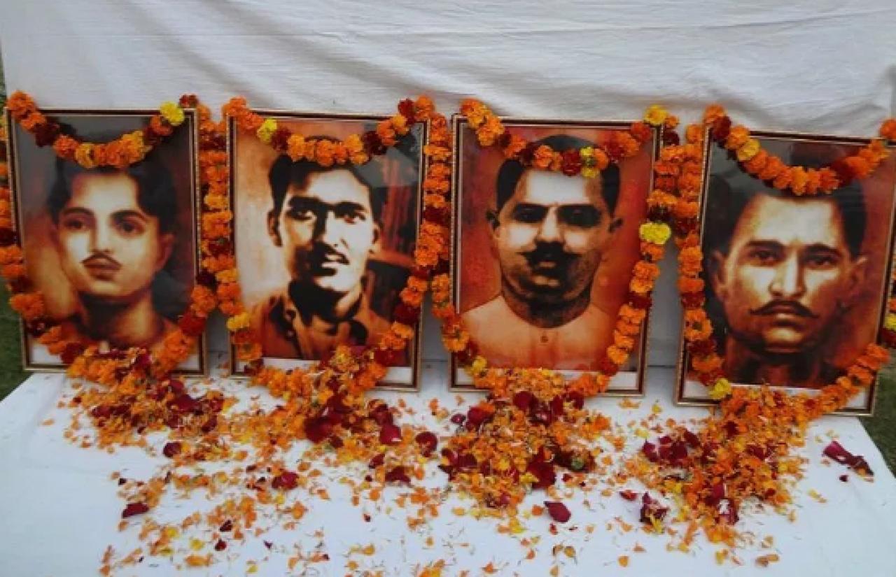 Rajendra Lahiri, Ashfaqullah, Ram Prasad Bismil and Roshan Singh.