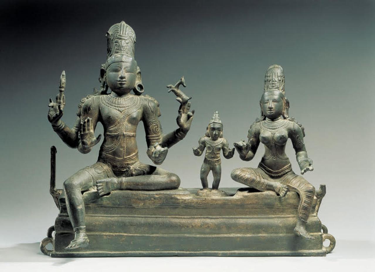 The Soma-skanda bronze work