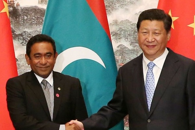 (Xi Jinping with Maldives President Abdulla Yameen, File photo)