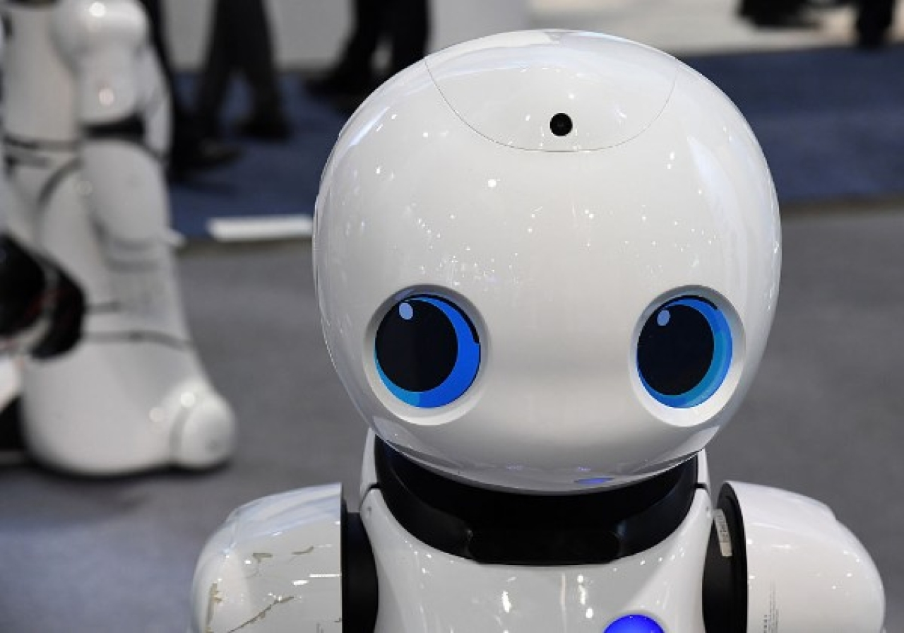 A Tanscorp UU smart robot is displayed at CES 2017 in Las Vegas, Nevada. CES is the world's largest annual consumer technology trade show. (Ethan Miller/Getty Images)