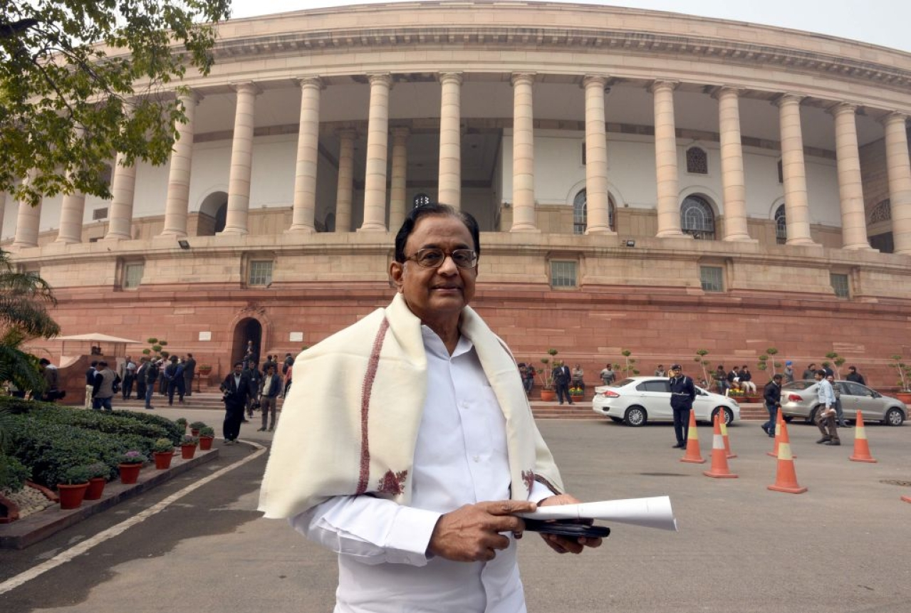 Rajya Sabha member P Chidambaram had 12 questions for the Prime Minister in Parliament (Sonu Mehta/Hindustan Times via Getty Images)