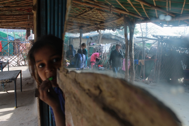 Hut hide and seek: Family time at a Rohini camp