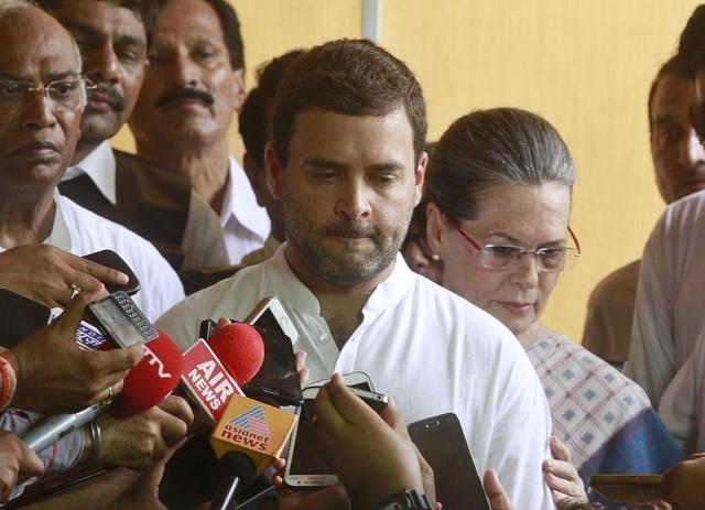 Congress President Rahul Gandhi  Sanjeev Verma/Hindustan Times via Getty Images)
