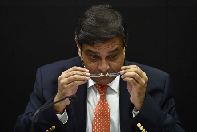 RBI Governor Urjit Patel during a press conference at RBI headquarters in Mumbai. (Arijit Sen/Hindustan Times via GettyImages)