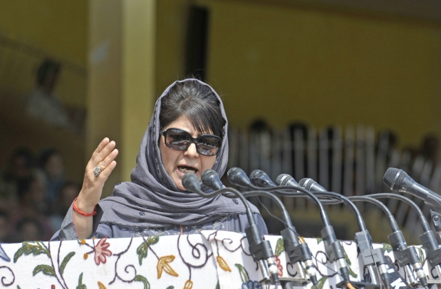 Mehbooba Mufti (Waseem Andrabi/Hindustan Times via Getty Images)