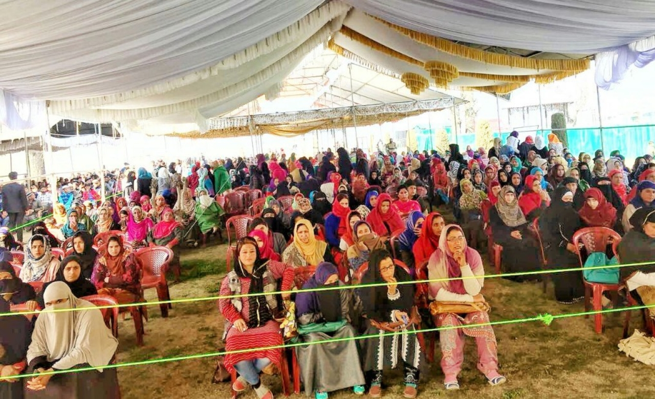 Women in large numbers attended the event.