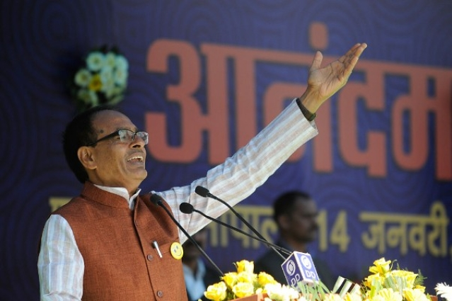 Despite the bypoll results in Madhya Pradesh, Shivraj Singh Chouhan is still the favourite to win in 2018. (Mujeeb Faruqui/Hindustan Times via Getty Images)