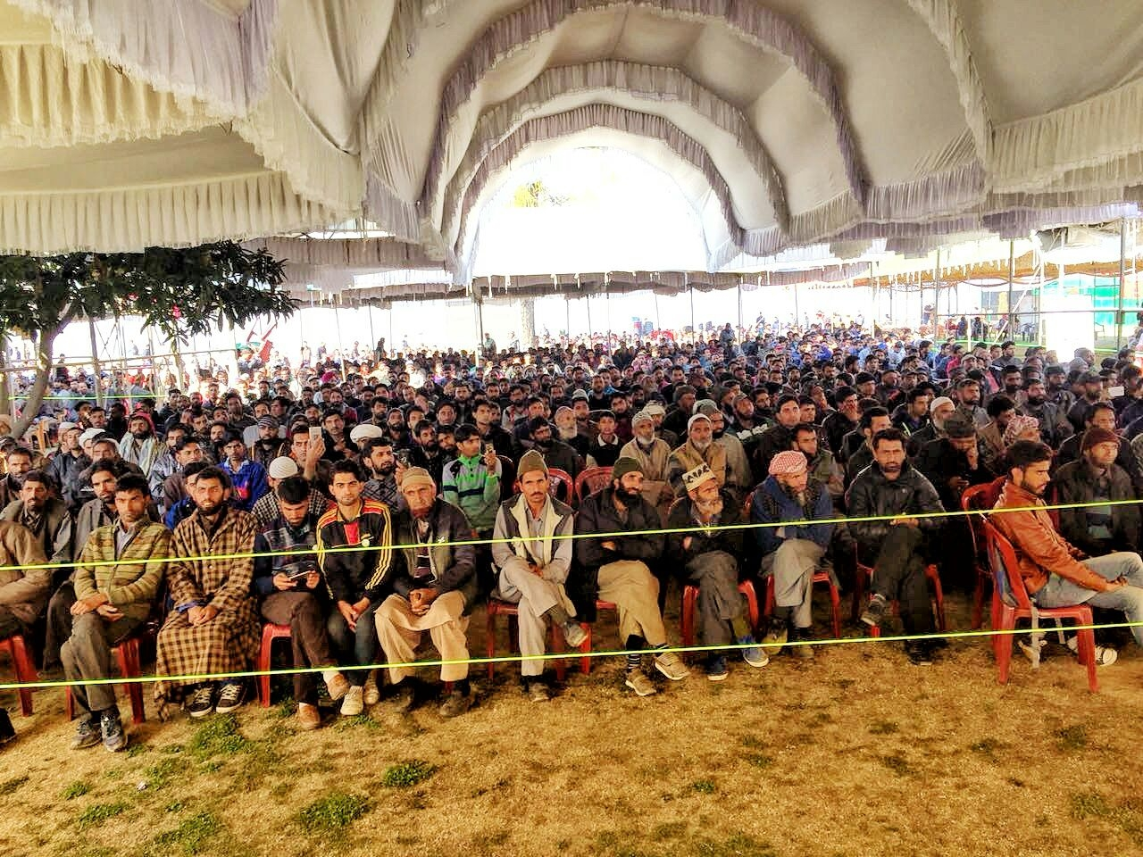 A lot for former militants and stone pelters also attended the event.