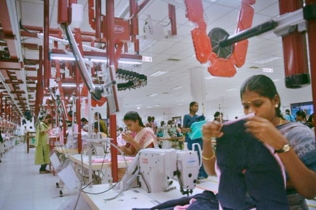 Workers at an apparel unit. India has been left behind by countries like Bangladesh and Vietnam in the apparel sector.