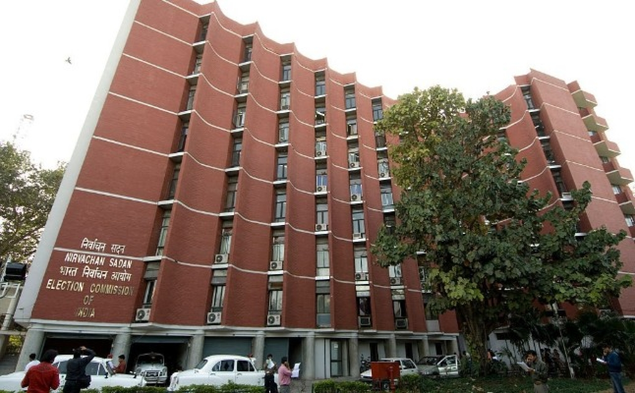 The Election Commission of India office in New Delhi (Harikrishna Katragadda/Mint via Getty Images)
