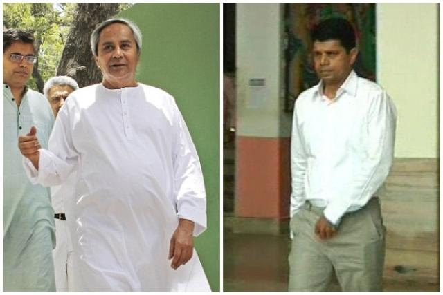 Naveen Patnaik and V Karthikeyan Pandian, right