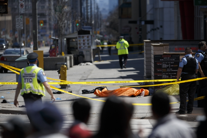 At Least 10 Killed As Van Plows Into Crowd In Canada's Toronto, Police Say 'Not An Accident'