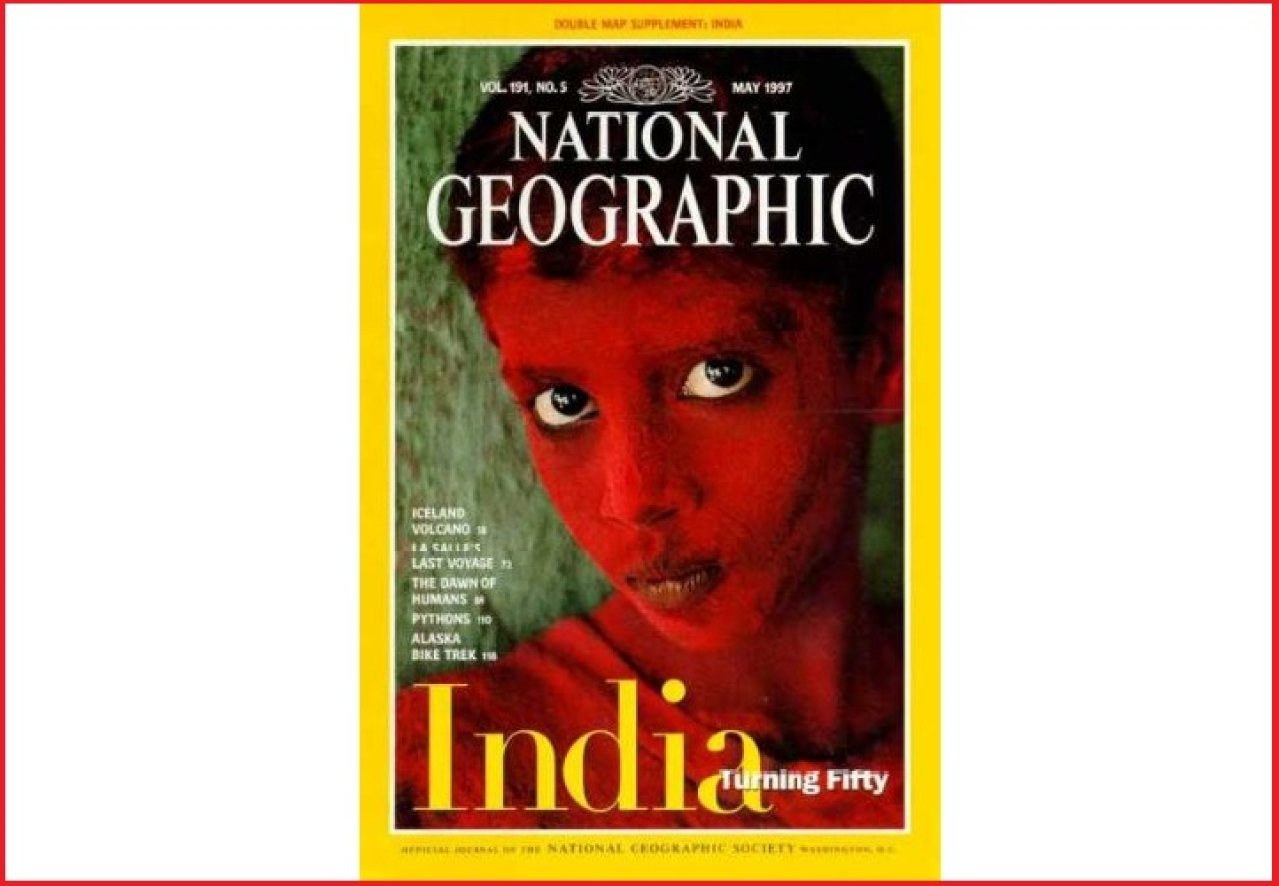 A National Geographic Magazine cover
