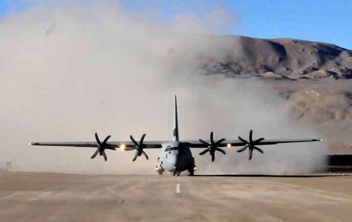 Watch: Indian Air Force Lands C-130J Aircraft Carrying Artillery Guns At Mechuka Near China  Border