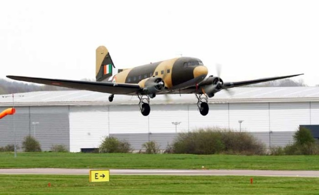 Douglas DC-3 Dakota aircraft to join Indian Air Force's vintage squadron. (Shiv Aroor/Twitter)