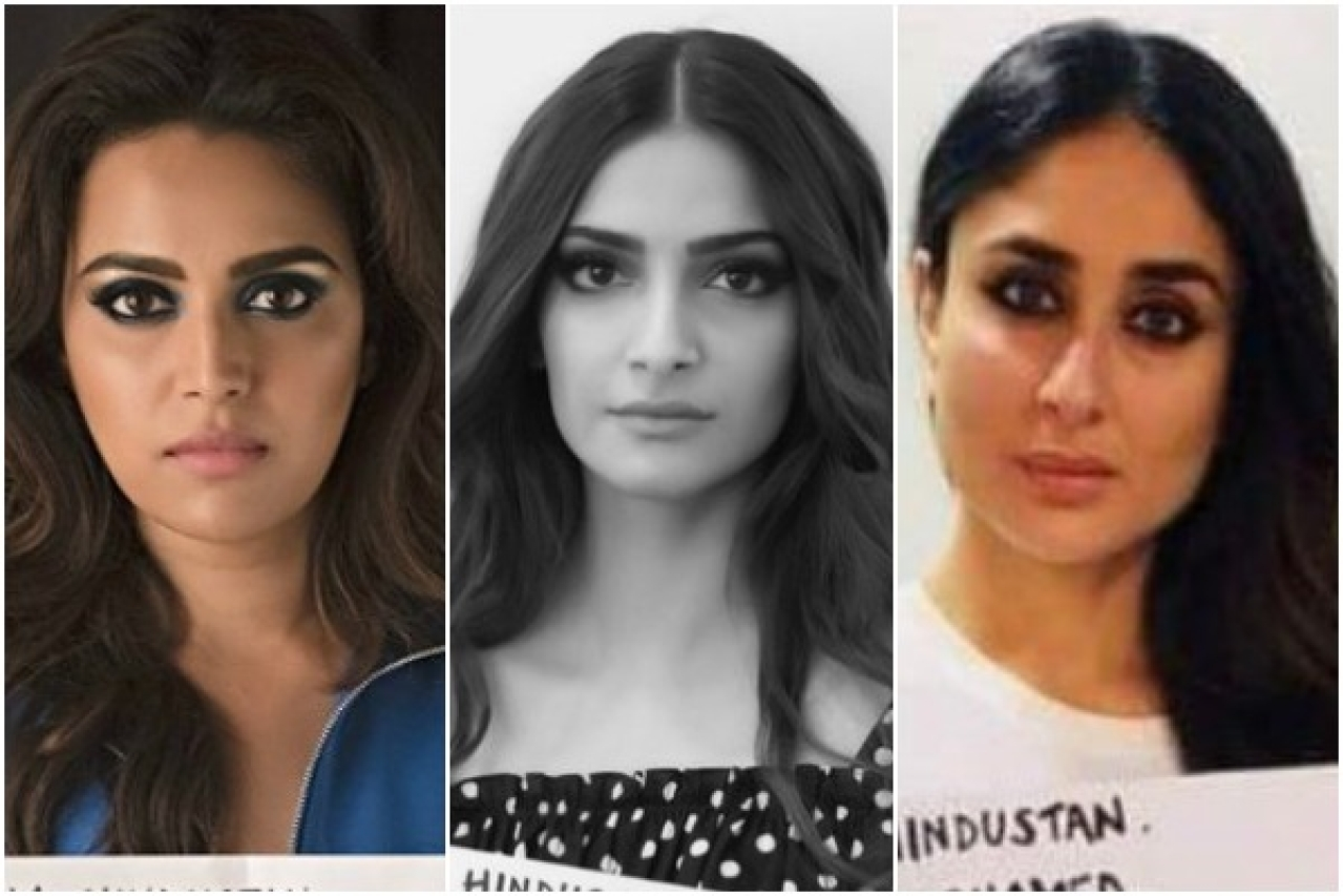 Bollywood with placards on a tragedy
