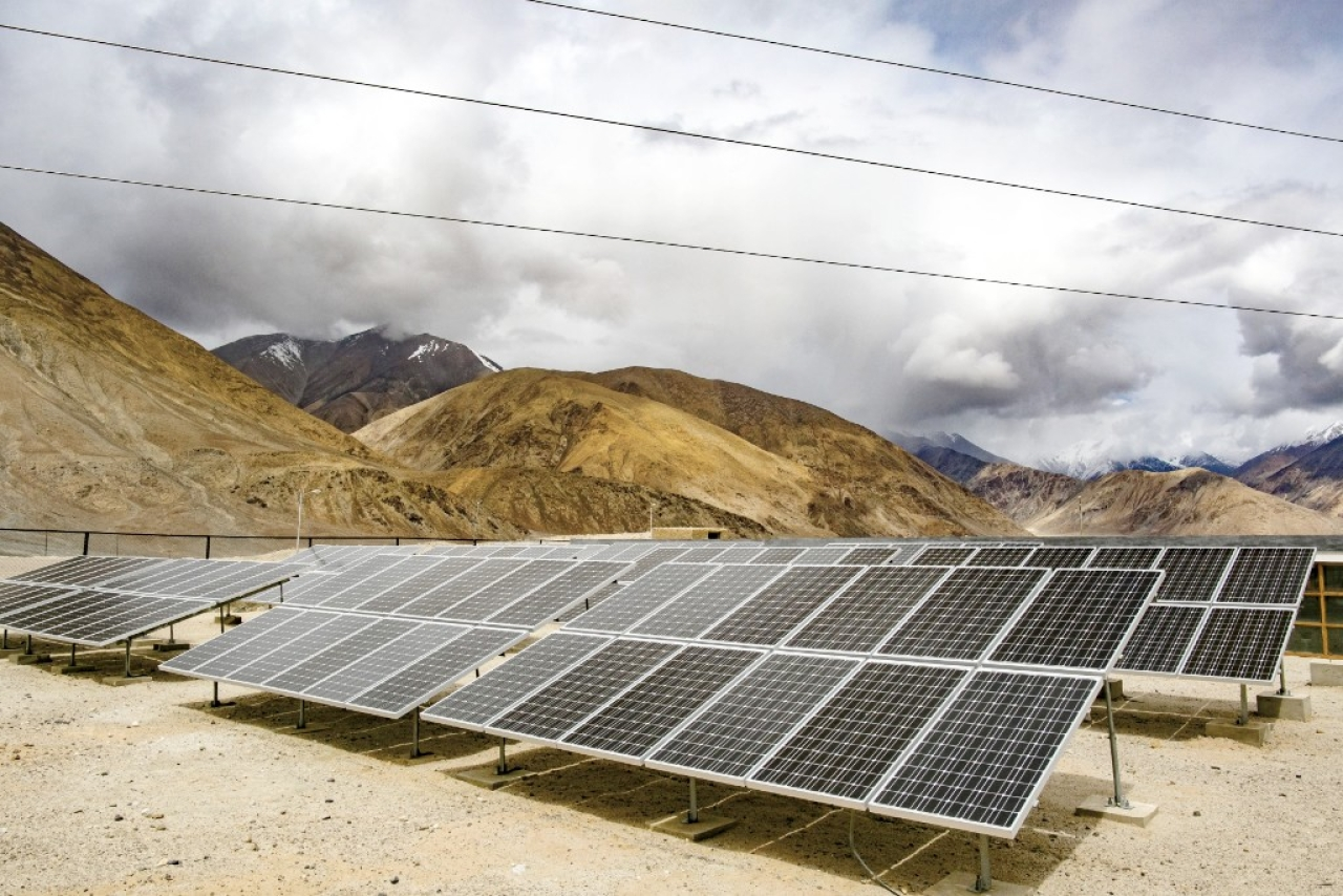 Solar Panels in Laddakh (Allison Joyce/Getty Images)