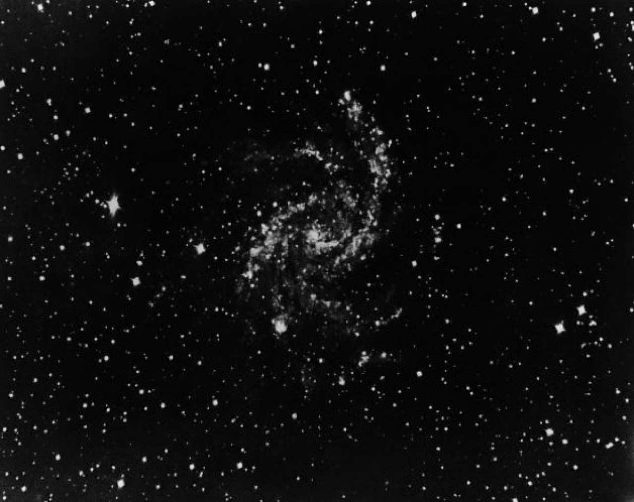 NGC6946, a spiral galaxy in the constellation Cepheus, 1940. (Fox Photos/Hulton Archive/Getty Images)