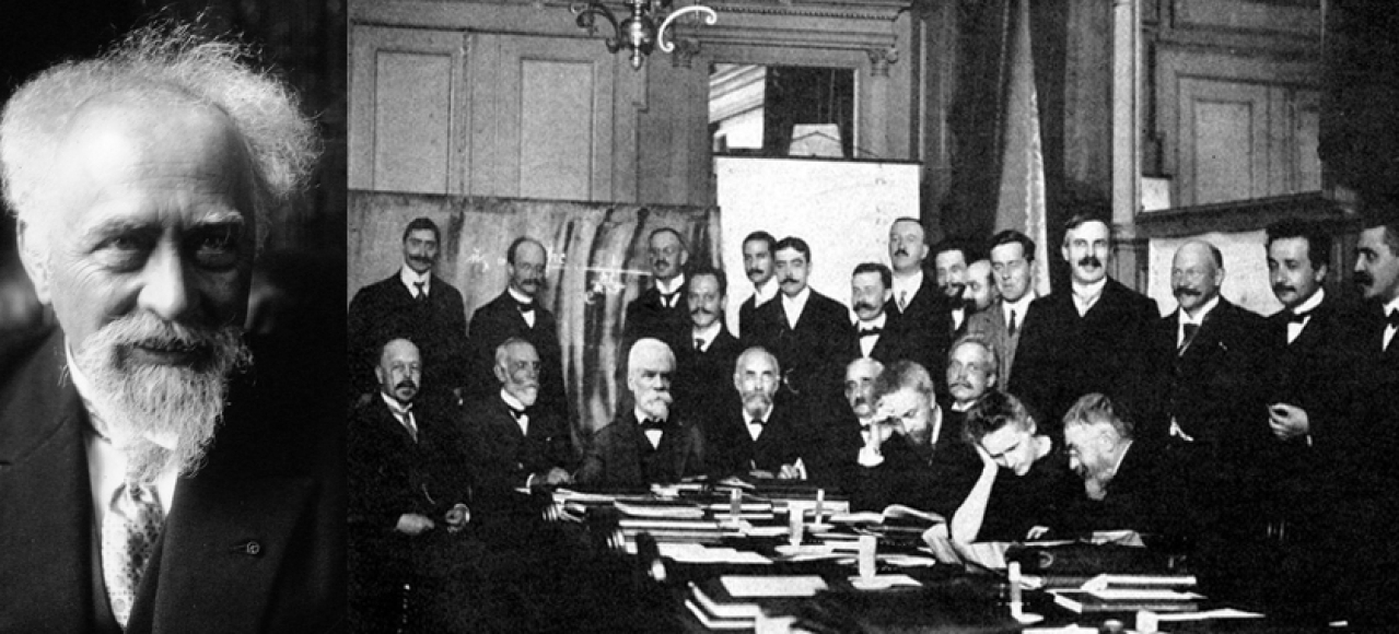 Jean Perrin: Here, in the famous 1911 Solvay Conference, Perrin can be seen seated fourth from the right, along with Madame Curie, and Einstein, second from right, standing.
