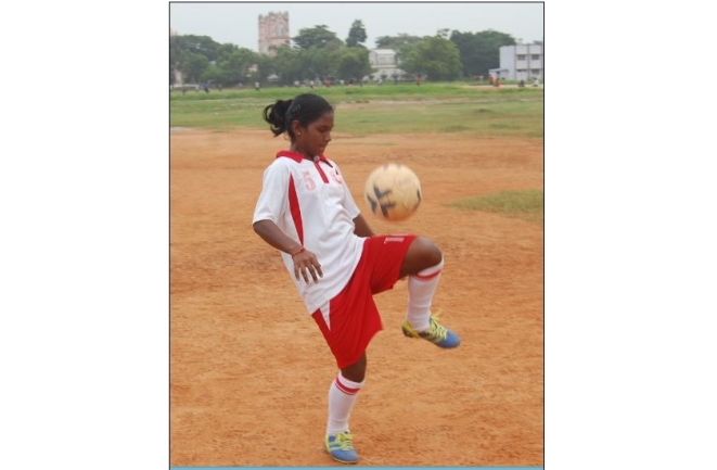 IGAS captain Sumithra practises on the ground