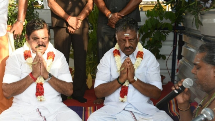 DMK Objects To Hindu Ceremony As Foundation Stone Is Laid For Huge Jayalalithaa Memorial