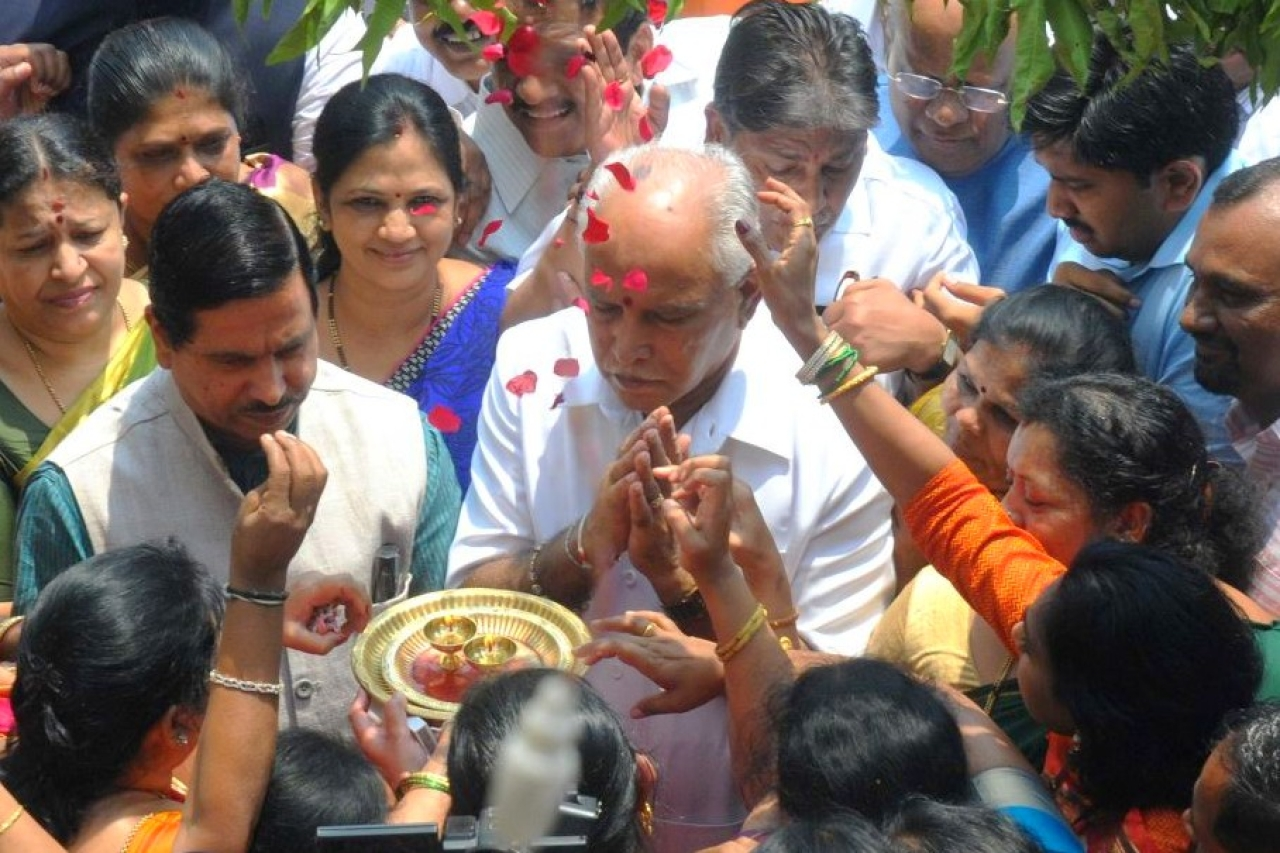 Chief Minister B S Yeddyurappa. (Hemant Mishra/Mint via Getty Images)