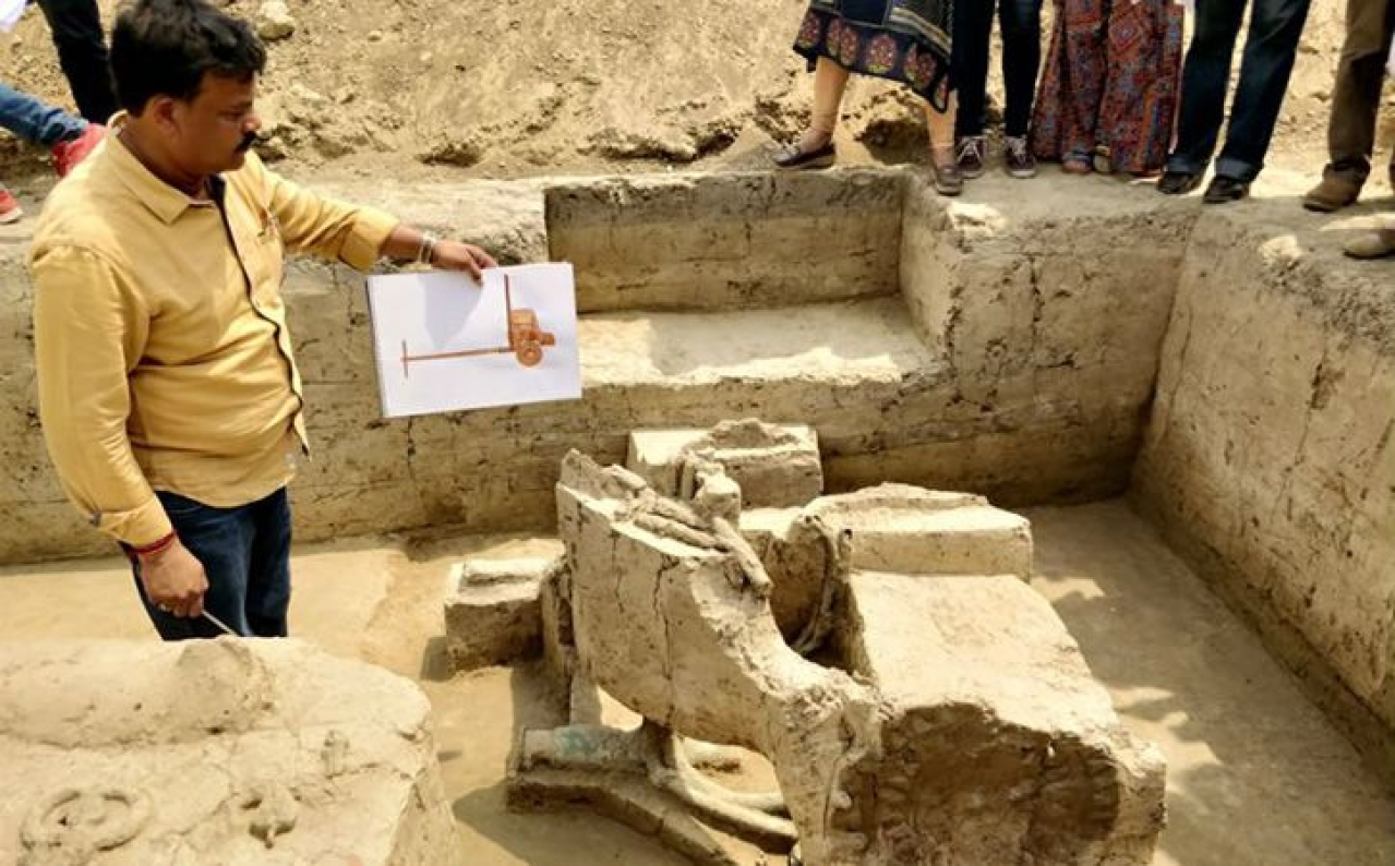 Discovery Of Pre-Iron Age Chariot In UP Points To A Warrior Class In The 'Peaceful Harappans'