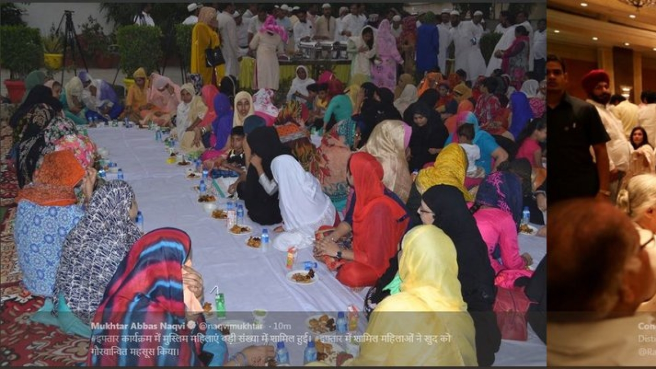 BJP's Mukhtar Naqvi Throws Iftaar Party, But With A Difference