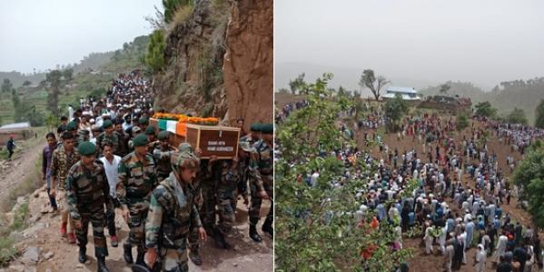 Anti-Pakistan Slogans Raised During Army Jawan Aurangzeb's Funeral