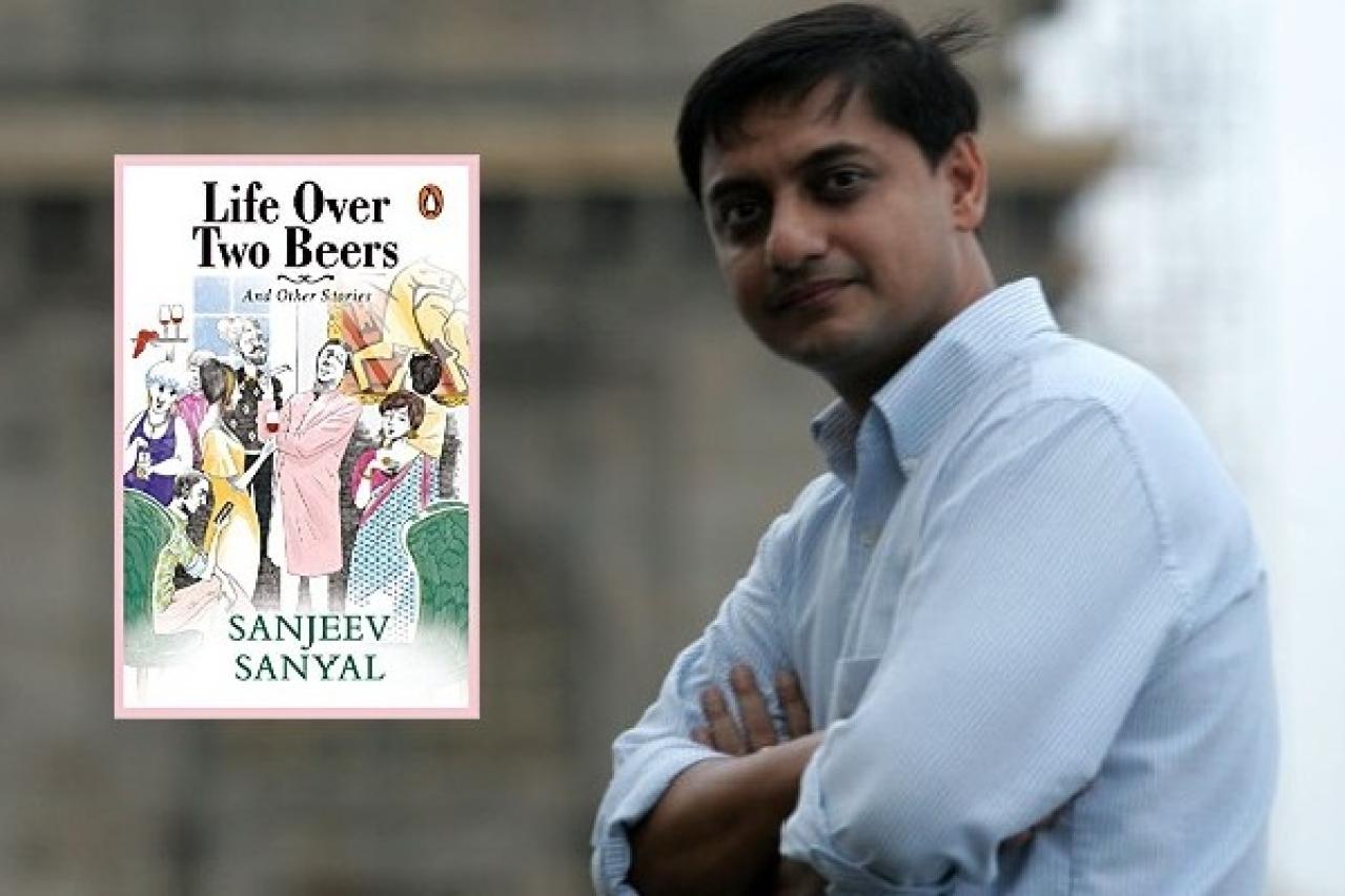 Author Sanjeev Sanyal (Anshuman Poyrekar/Hindustan Times via Getty Images)
