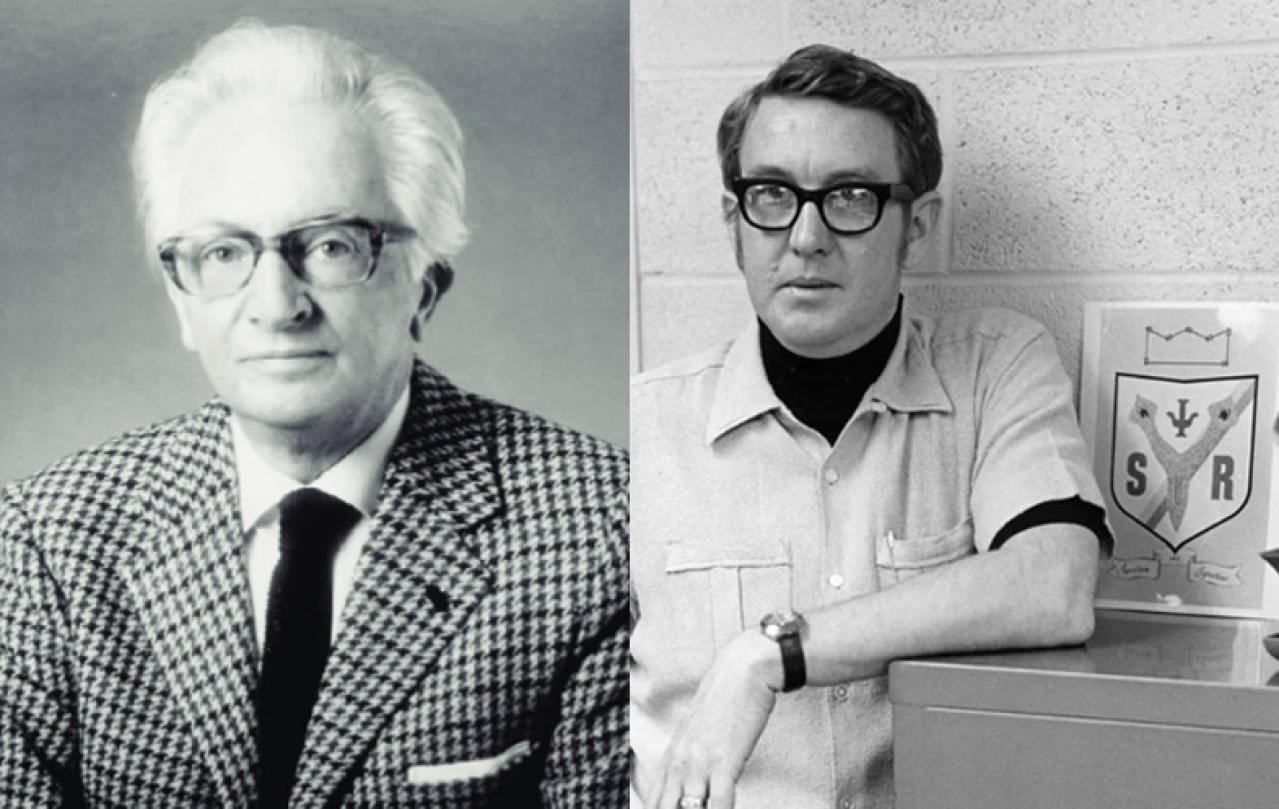 Left: Dr Holger Hyden who proposed RNA as molecular basis of memory Right: Dr James V McConnell a colourful scientist, later he became the target of notorious leftist luddite terrorist Unabomber.