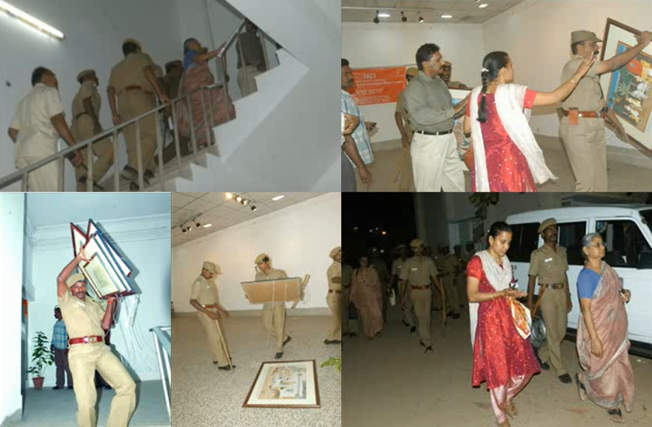 2008: FACT exhibition at Chennai - stopped because radical Islamists opposed it.