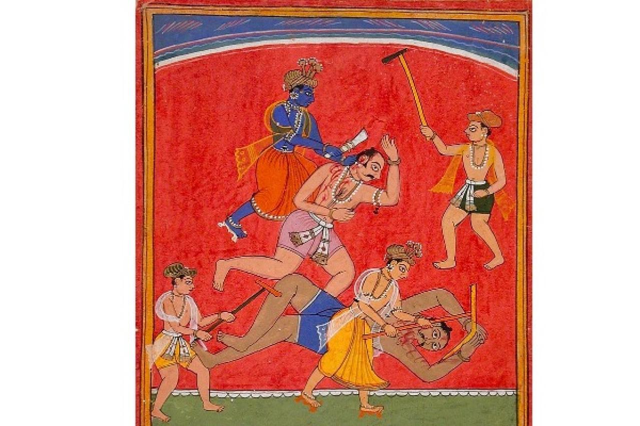 The slaying of Kamsa