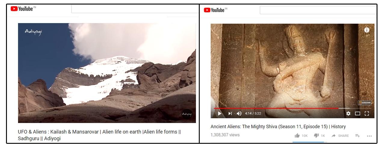 Siva is an alien? Pseudo-science meets poor religious understanding.