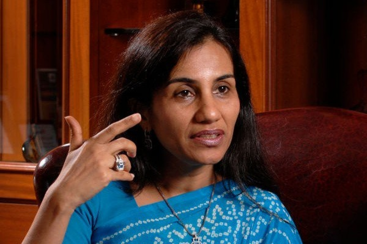 ICICI Bank CEO Chanda Kochhar during an interview at her office in Mumbai. (Abhijit Bhatlekar/Mint via Getty Images)