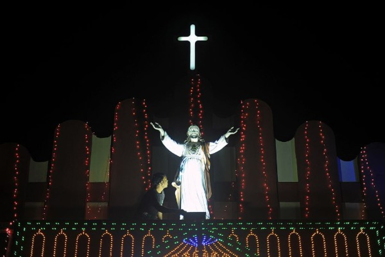 The church can never be crucified in India, it appears. (DIPTENDU DUTTA/AFP/Getty Images)