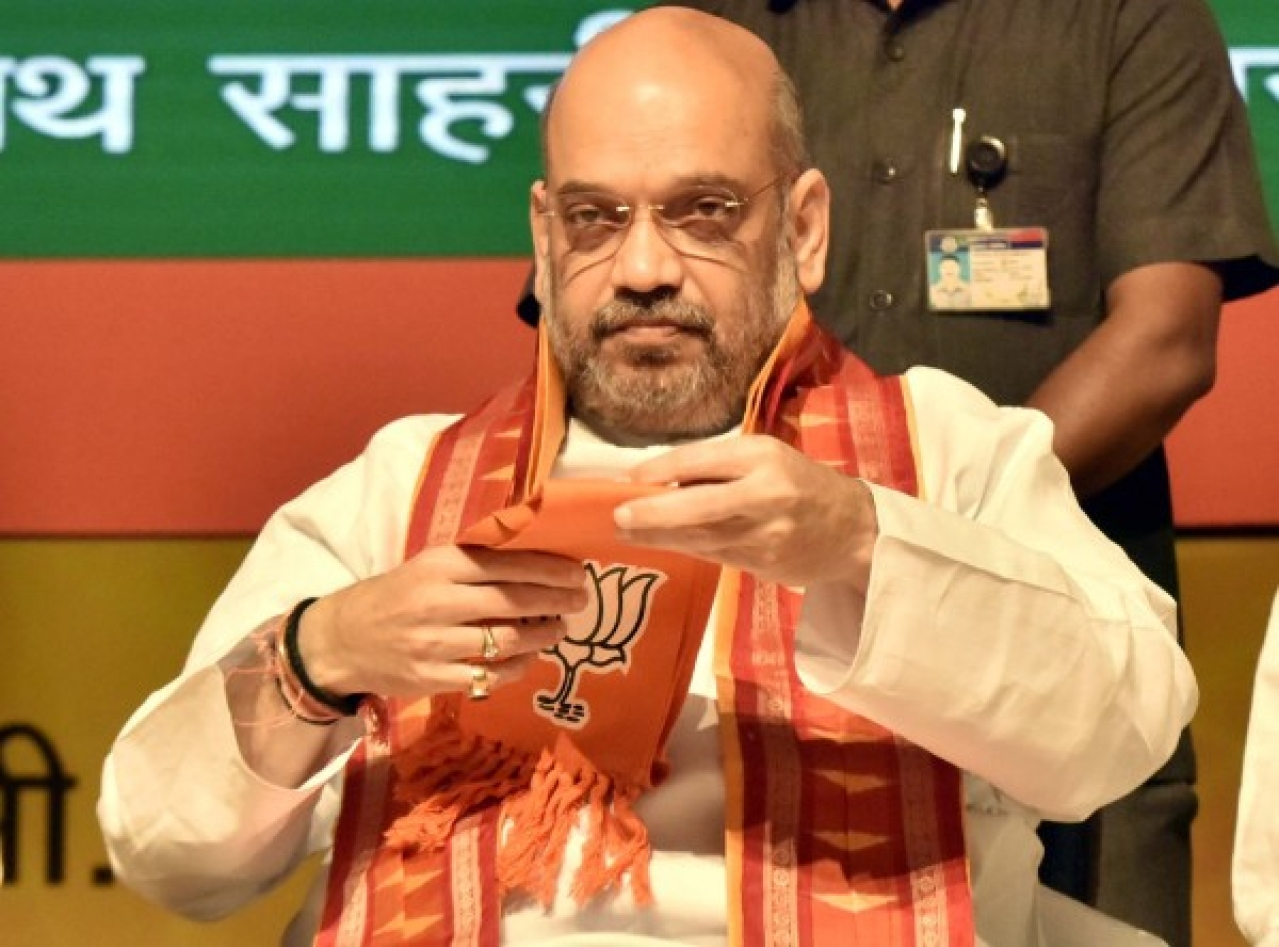 BJP National President Amit Shah (Sonu Mehta/Hindustan Times via Getty Images)