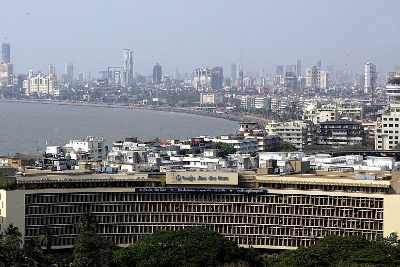 The LIC building in Nariman Point, Mumbai.  (Girish Srivastava /Hindustan Times via GettyImages)