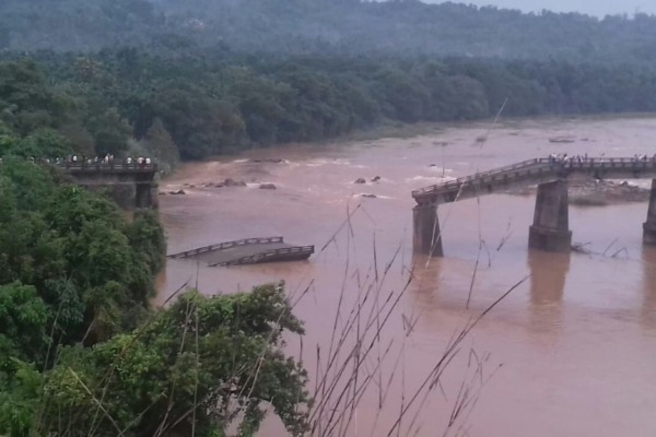A look at the collapsed bridge from afar