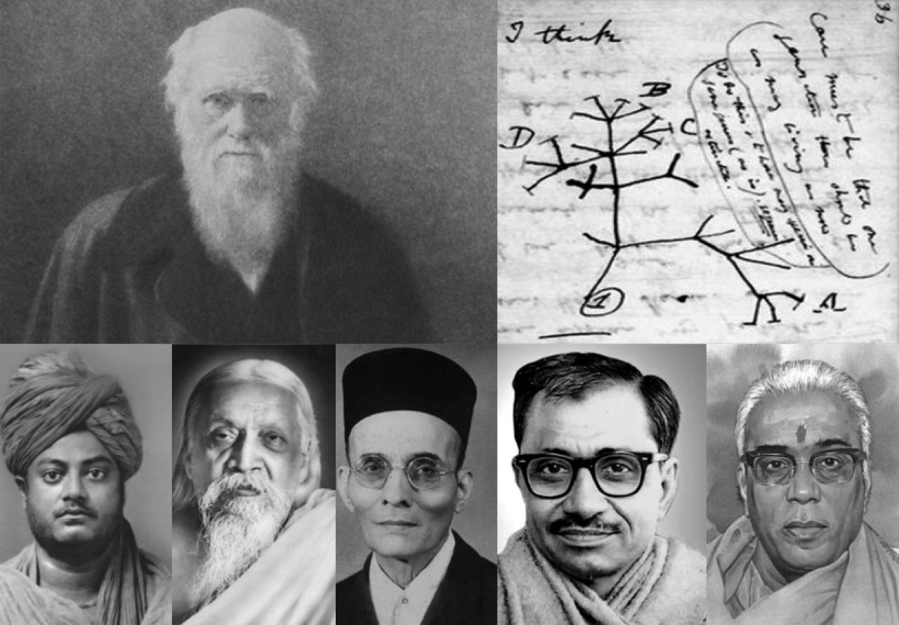 Great savants of Hindutva and Vedanta: Vivekananda, Aurobindo, Savarkar, Upadhyaya, and Deoras were all comfortable with the theory of evolution.