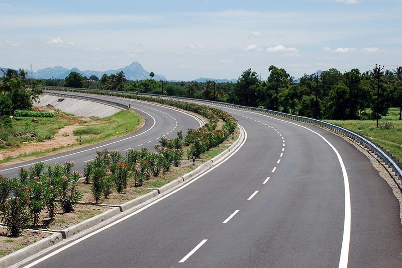 A view of the Krishnagiri-Dharmapuri national highway