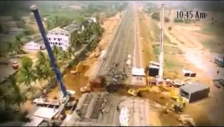 Watch: East Coast Railway Builds Underpass In 4.5 Hours