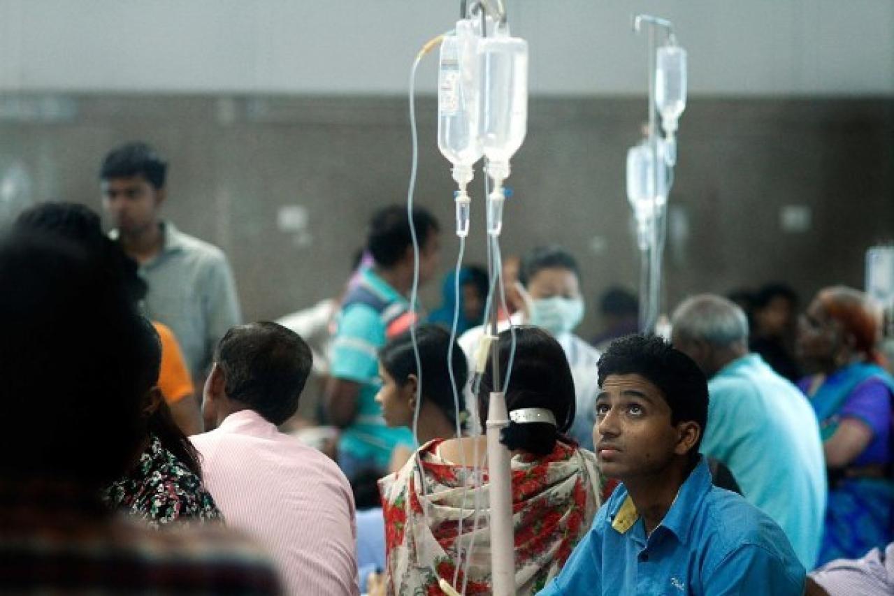 Representative image: patients waiting at a government hospital (Arun Sharma/Hindustan Times via Getty Images)