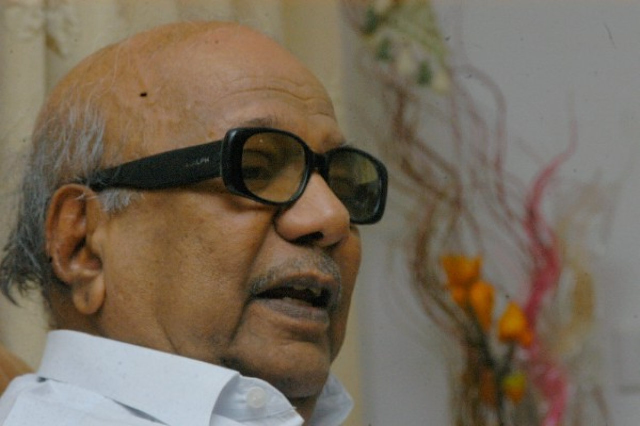 The late Karunanidhi found the Kongu belt a tough nut to crack. (Hk Rajashekar/The India Today Group/Getty Images)